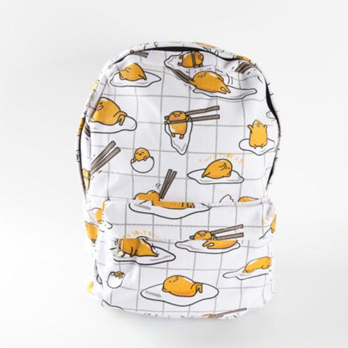 Тканевый школьный Kawaii рюкзак с Ленивым желтком Gudetama