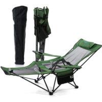 Походный туристический шезлонг стул раскладушка