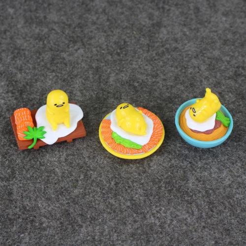 Набор из 8 игрушек фигурок с Ленивым желтком Gudetama