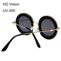 Круглые ретро очки с надписью lageluve rapauomr