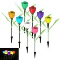 Садовые фонарики на солнечных батареях в виде цветов тюльпанов