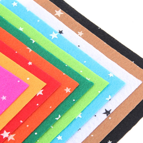 Фетр со звездами 10 шт. по 15 x 15 см