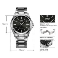 CASIO MTP-1183 Оригинальные круглые наручные мужские кварцевые водонепроницаемые часы