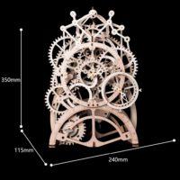 Robotime DIY Деревянный конструктор Часы с маятником 170 деталей