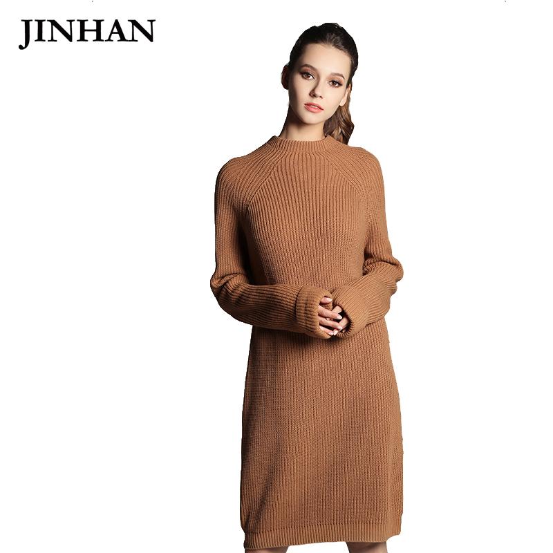 5c9ffc66e44 Купить Женское плотное осеннее вязаное платье-свитер свободного ...