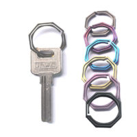 Титановые кольца для ключей