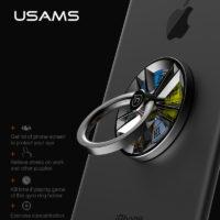 USAMS Кольцо на смартфон + держатель + спиннер