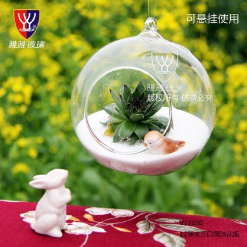 Прозрачный подвесной флорариум ваза в виде шара из стекла