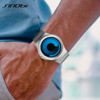 Футуристичные мужские наручные часы Sinobi