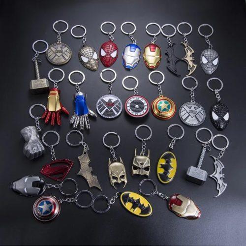 Металлические брелоки для ключей с героями комиксов Марвел (Marvel)