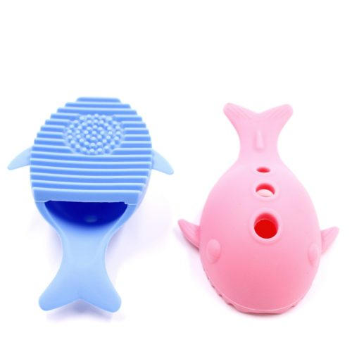 Силиконовая щетка (подставка) в виде кита для мытья для косметических кистей