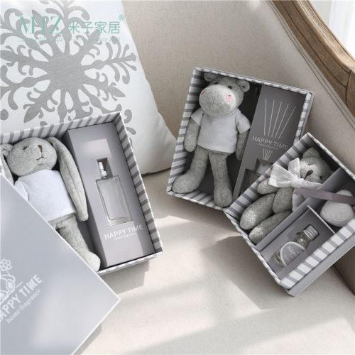 Ароманабор в подарочной упаковке Серые мягкие игрушки с эфирными маслами