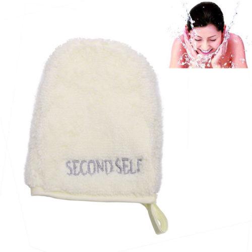 Многоразовая рукавичка полотенце для снятия макияжа