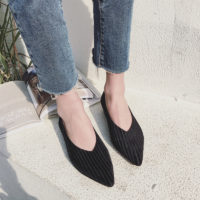 Вельветовые туфли лодочки на квадратном каблуке с острым носом