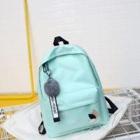 Однотонный рюкзак на регулируемых лямках с ручкой для детей и подростков