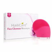 Водонепроницаемая электрическая силиконовая щётка для умывания, очищения и массажа кожи лица (реплика LUNA)