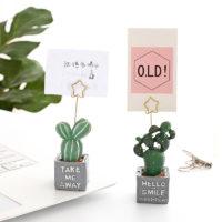 Настольные фигурки кактусов – держатели для фотографий