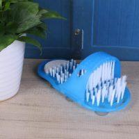Массажные тапочки с щетками для мытья ног в ванной комнате/душе