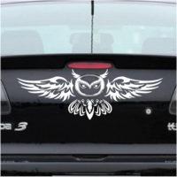 Наклейка логотип Сова на мазду