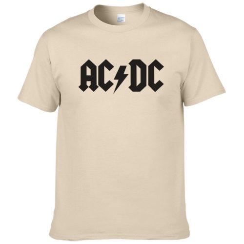 Мужская футболка с надписью рок-группы AC/DC (разные цвета)