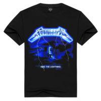 Мужская черная футболка с символикой рок-группы Metallica