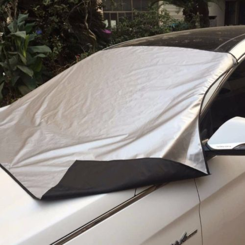 Защитный чехол накидка на переднее стекло автомобиля от наледи
