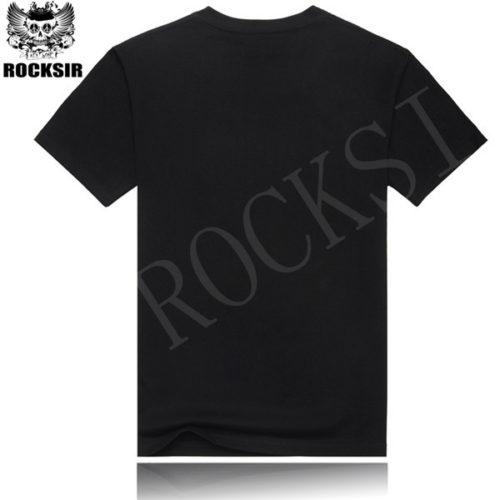 Мужская черная хлопковая футболка с символикой рок-группы Led Zeppelin
