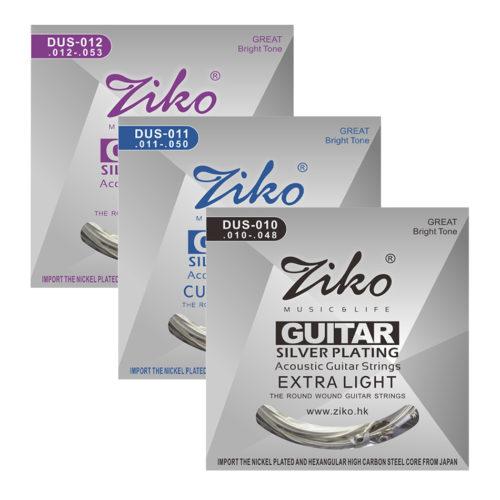 ZIKO DUS 010/011/012 струны для акустической гитары