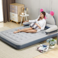 Большая надувная кровать с насосом