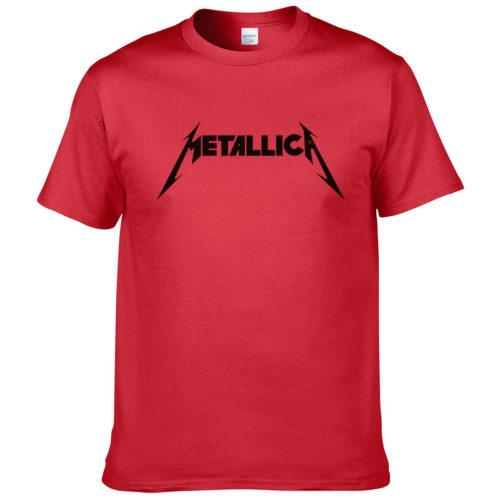 Мужская футболка с надписью рок-группы Metallica (разные цвета)