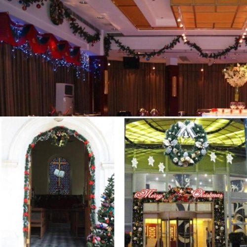 Пушистая гирлянда 2,7 м из сосновых веточек для украшения дома на новый год или создания новогоднего венка