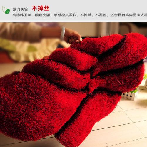 Домашний коврик в виде цветка розы 70 см