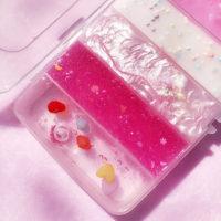 Набор из 6 розовых или голубых слаймов лизунов антистрессов
