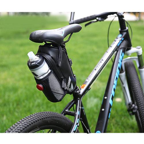 ROSWHEEL Велосипедная сумка под седло с карманом под бытылку с водой