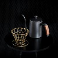 Складной медный металлический фильтр воронка для ручного приготовления кофе