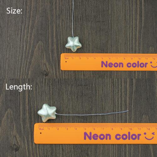 Набор искусственных елочных звездочек 22 мм 10 шт. для DIY поделок, новогодних венков