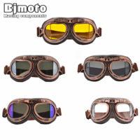 Винтажные кожаные мото очки авиаторы