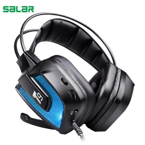 Salar T9 профессиональные накладные игровые наушники гарнитура объемного звучания