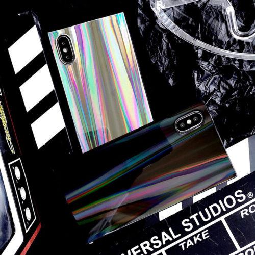 Голографический сияющий красочный чехол для iPhone