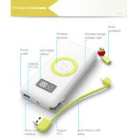 Power bank (портативные зарядные устройства) с встроенным кабелем на Алиэкспресс - место 2 - фото 6