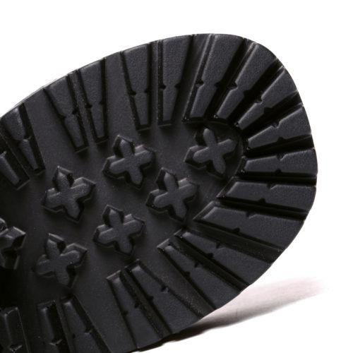 Женские черные ботинки на шнуровке, из искусственной кожи, на высокой рифленой платформе и квадратном каблуке