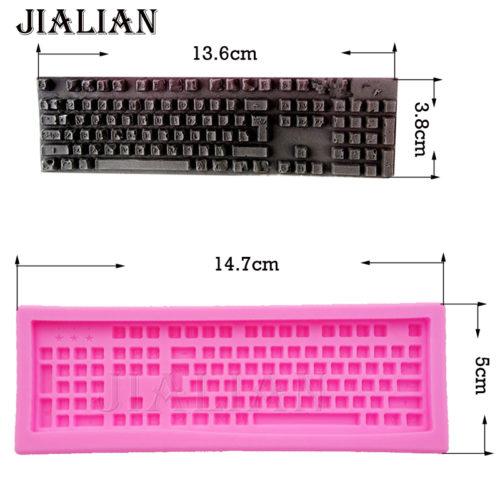 Силиконовая форма для выпечки в виде клавиатуры