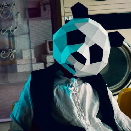 DIY маска панды из бумаги (картона) на голову