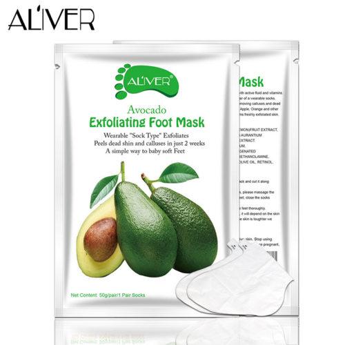 Отшелушивающая маска с авокадо для кожи ног