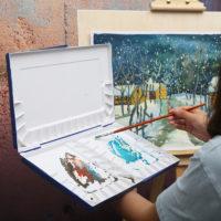 Пластиковая палитра для живописи, рисования