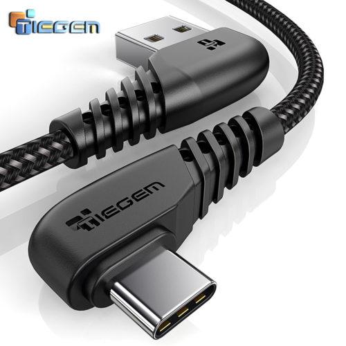 Tiegem красный/белый/черный уголовой кабель провод usb type-C в оплетке для быстрой зарядки