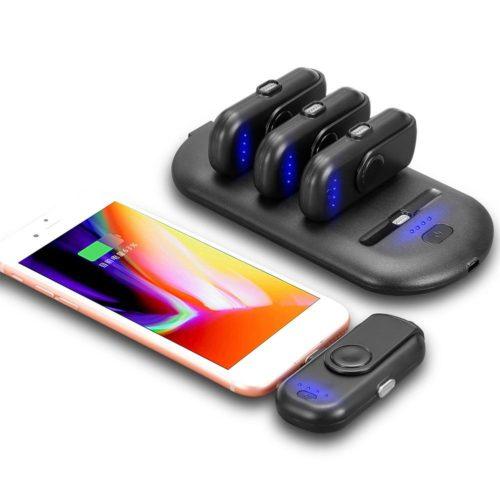Набор из 4 мини-павербанков (портативных зарядных устройств, power bank), емкостью по 1000 мАч каждый