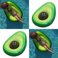 Надувной плавательный круг матрас в виде авокадо
