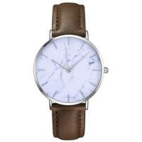 Женские кварцевые наручные часы с мраморным циферблатом