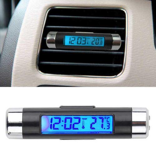 Часы термометр в автомобиль с подсветкой